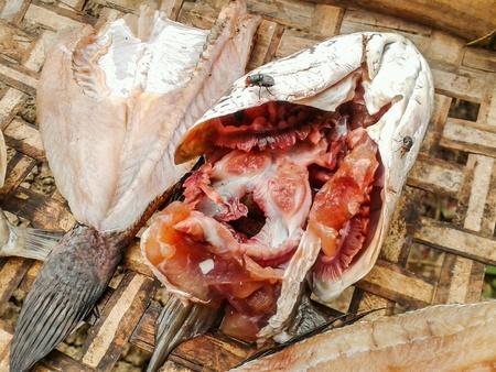 dry fish: Dry fish raw food Stock Photo