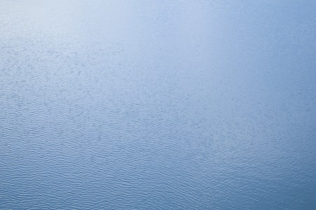 wavelet: water surface with ripples and reflection of landscape