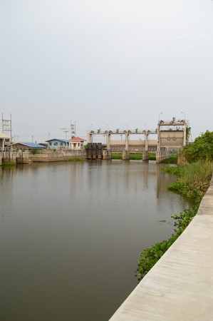 chachoengsao: public dam in country Thailand Chachoengsao Stock Photo