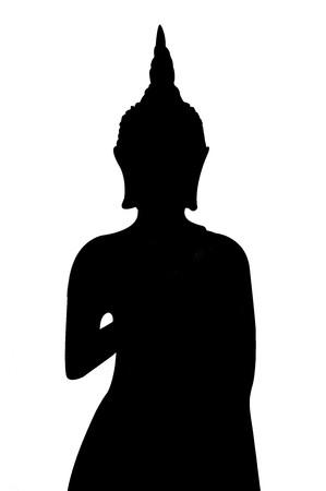 black buddha silhouette texture