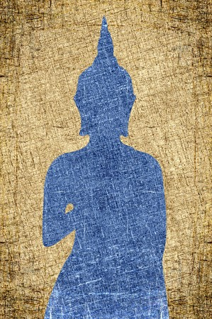 grunge buddha silhouette texture