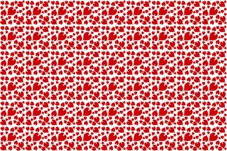 tiny: red tiny heart pattern background