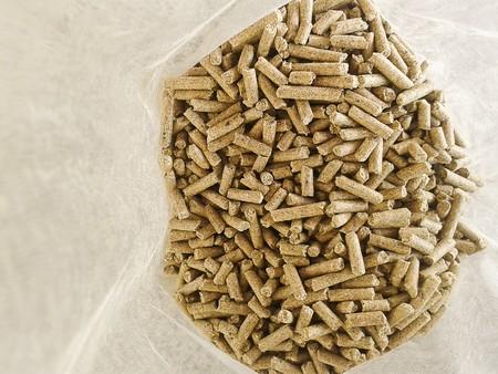 pellets: animal Food Pellets in plastic bag Stock Photo