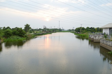 chachoengsao: khlong Preng river in Chachoengsao Thailand