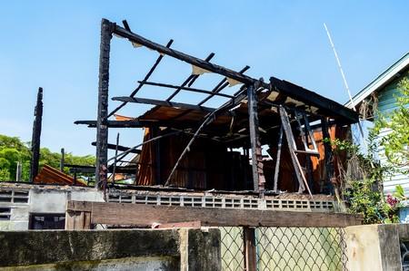 Het huis na een brand