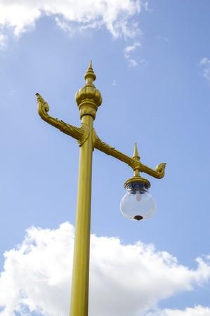 lamp post: Street lamp post in garden
