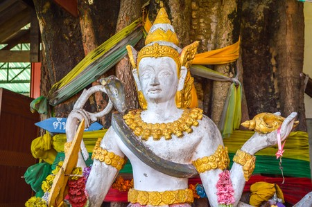 faerie: angle statue in public temple Thailand Stock Photo