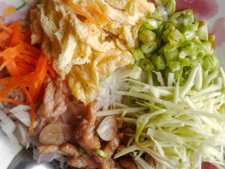 Fried rice with Shrimp paste  Thailand healthy food