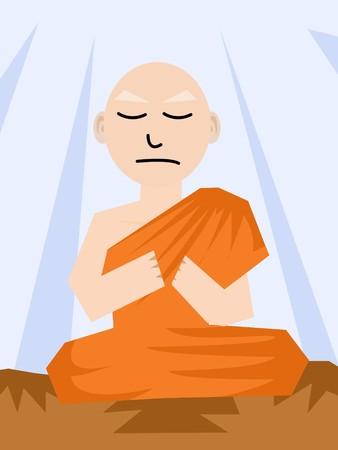 Buddhistischer Mönch cartoon Standard-Bild - 41507816