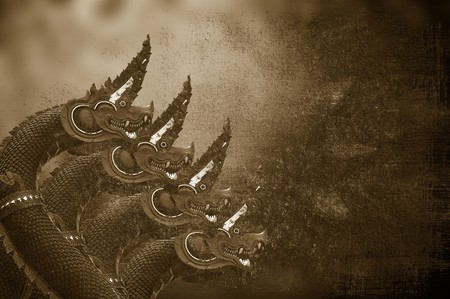 art four King of Nagas statue and buddha shadow texture