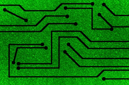 electronic circuit: green electronic circuit background