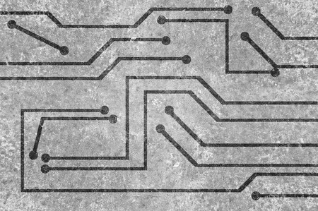 electronic background: gray electronic circuit background