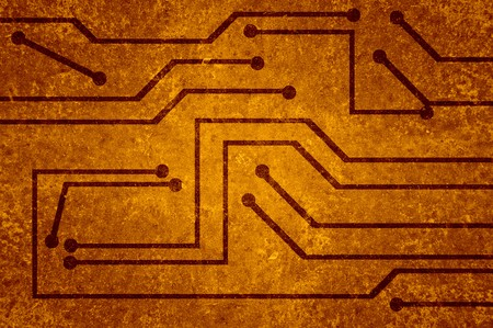 electronic circuit: brown electronic circuit background