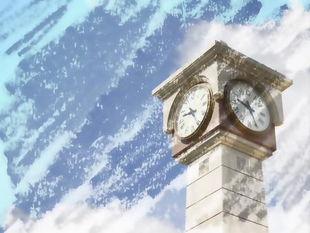 clock tower: art grunge clock tower background Stock Photo
