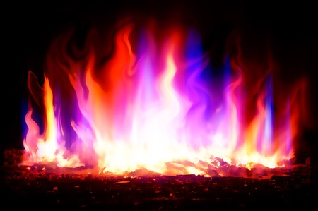 firestorm: art fire color abstract background