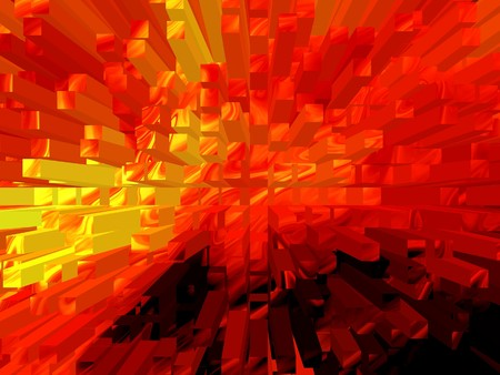 radiate: abstract red blocks radiate texture illustration
