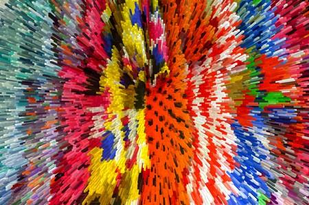 radiate: abstract colorful blocks texture Illustration