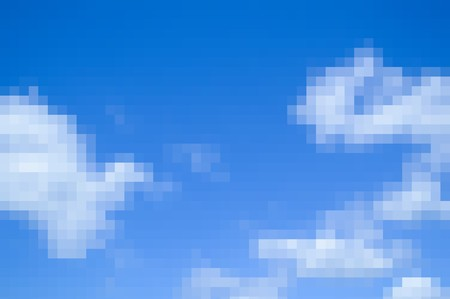 streaked: blur blue sky and white cloud