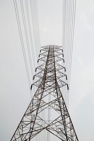 국가 태국에서 전기 게시물 스톡 콘텐츠
