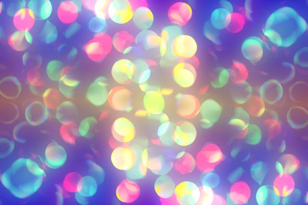 effect: colorful bokeh effect background