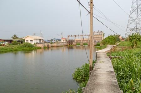 chachoengsao: public dam in country Thailand Chachoengsao Stock Photo