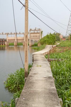 chachoengsao: walkway in waterfront Klong Preng Chachoengsao Thailand