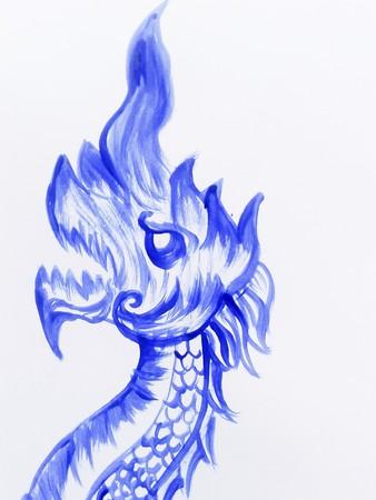 blauw nagas illustratie Stockfoto