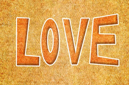 word love Stock fotó - 44098201