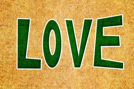to word: word love Stock Photo