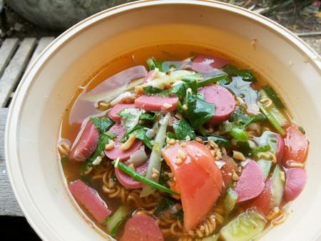 spicy: spicy noodle healthy food