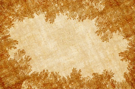 brow: brow leaves frame texture on brown background