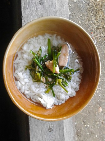 rice boiled healthy soup