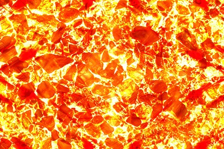 ground: hot lava in cracked ground Stock Photo