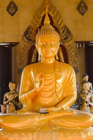 buddha statue: gold buddha statue in public temple Thailand Stock Photo