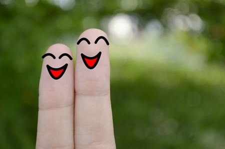 happy smile: smile fingers background