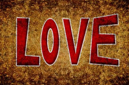 grunge word love