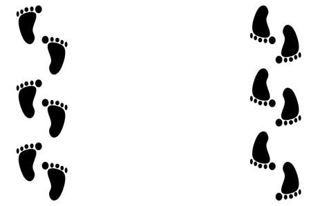 footprint illustration background
