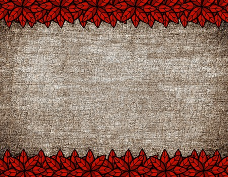 red leaves: red leaves on grunge illustration background Stock Photo
