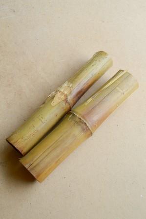 on wood floor: dry bamboo on wood floor