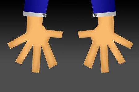 hand cartoon illustration