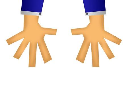 de hand cartoon illustratie