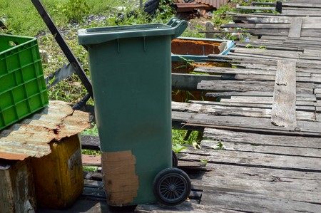 old bin in country Thailand