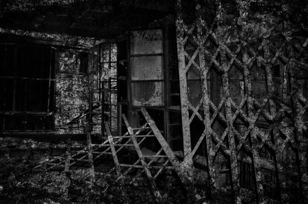 ghost town: abandoned home in Thailand