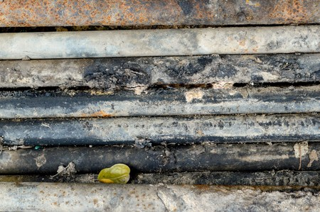 old rusty iron rods
