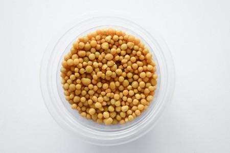 fertilizer pellets on white background Stok Fotoğraf
