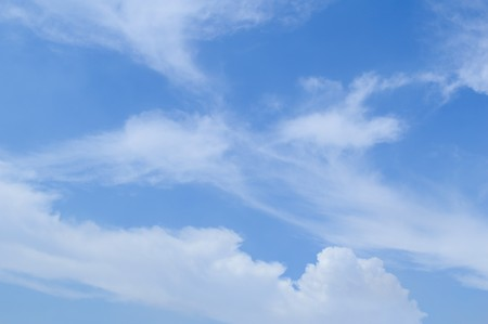 cloudiness: blue sky and white cloud Stock Photo