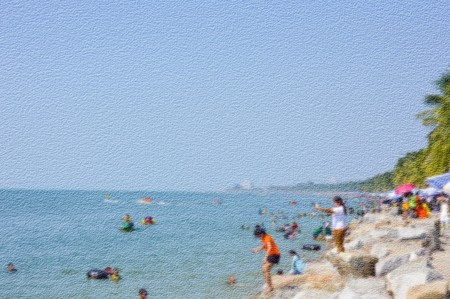 rough sea: art grunge blur travel sea illustration background