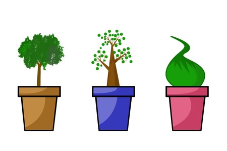 green plants illustration Stock Photo