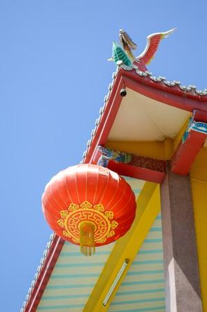 red china lamp
