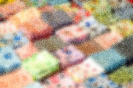 hanky: art grunge blur handkerchief background Stock Photo